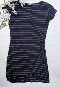 Stitched Skies Are Blue Navy Striped Tee Dress